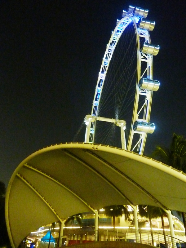 The Singapore Flyer and the (tensile roof) of the Greek Theatre. My hangouts!