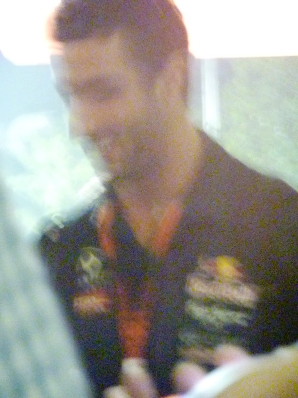 This horrible pic of Daniel Ricciardo is proof that I was too busy monitoring Vettel's movements to even check the focus on my camera!