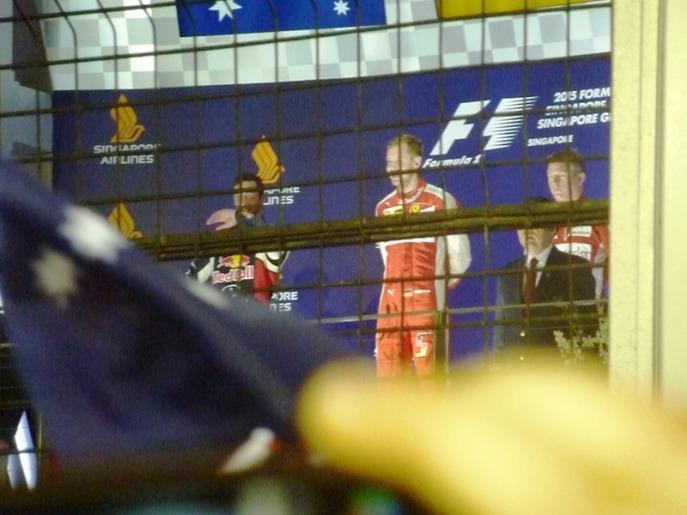 Vettel P1, Ricciardo P2, Raikkonen P3. Ferrari bossed this weekend. Forza!!